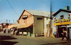 FISHERMAN'S WHARF Monterey, California Salty Nook Restaurant ca 1950s Postcard