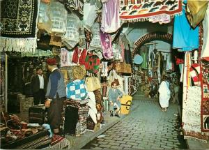 Tunisia Tunis cloth souk market