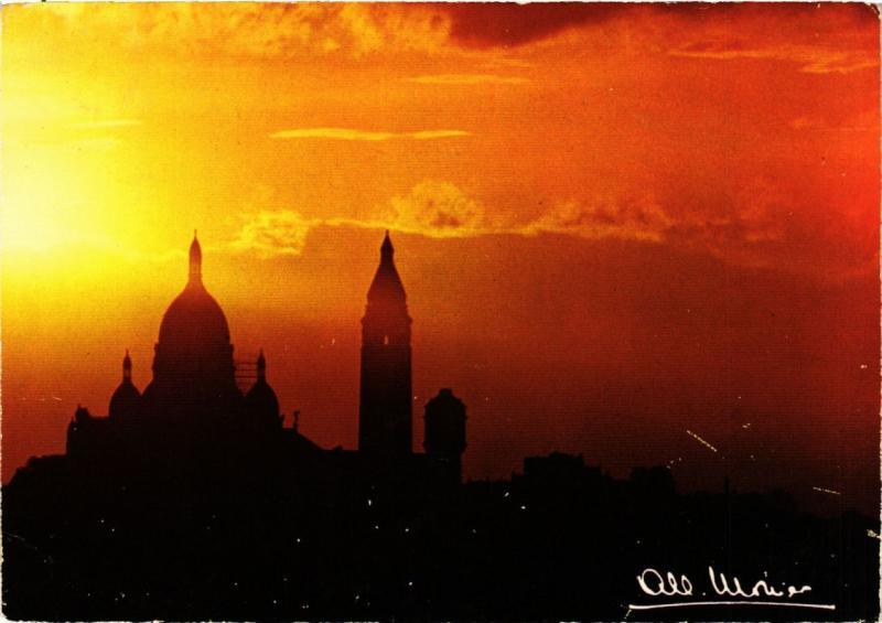 CPA MONIER ALBERT-Paris-Montmartre-Coucher de soleil sur le Sacré Coeur (331551)