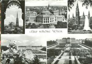 Austria, Das schone Wien Beautiful Vienna 1961 used Postcard