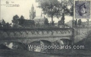 Le Canal Passant au dessus Hal, Belgium Stamp on back