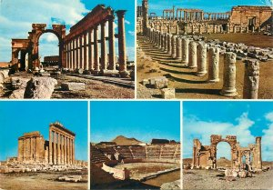 Postcard Syria Palmyia different aspects sightseeing&sites