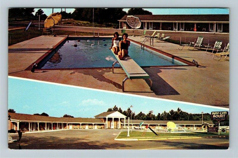 Richland GA- Georgia, Kay-lyn Kourt, Vintage Chrome Postcard