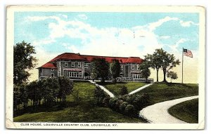 Club House, Louisville Country Club, Louisville, KY Postcard *7C19