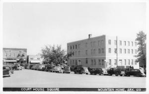 Mountain Home AR Court House Square~Mooney Drugs~Coca-Cola Signs RPPC c1950