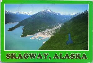 Aerial view of Skagway, Alaska - posted 1983