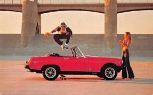 MG Midget Skateboard Auto Advertising Vintage Postcard JA4741461