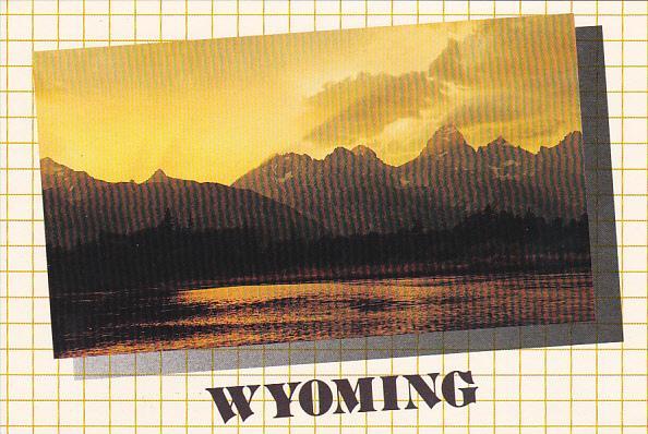 Wyoming Sunset Grand Teton Range Jackson Hole