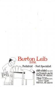 Burton Leib Podiatrist Occupation Unused