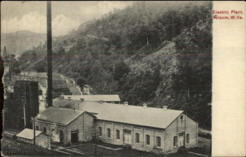 Tolsom or Folsom WV Electric Plant c1910 Postcard