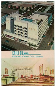 Postcard - Crillon Motel, Indiana & Pacific Aves. Atlantic City, New Jersey