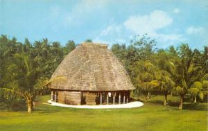 Samoa Old Vintage Antique Post Card Typical Samoan Fale House Unused