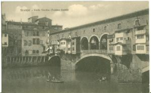 Firenze, Ponte Vecchio, (Taddeo Gaddi), early 1900s Postcard