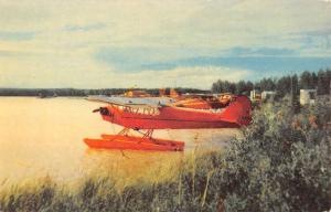 Anchorage Alaska Lake Hood Airplane Vintage Postcard K83169