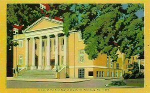 A View of the First Baptist Church St Petersburg Florida Postcard