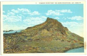 USA, Powder River Pass, Big Horn Mountains, Wyoming, 1910s-1920s unused Postcard