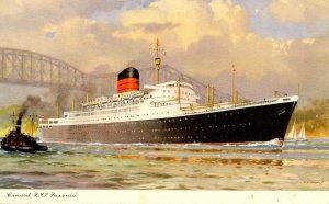 Cunard Line - RMS  Saxonia    Artist: Turner