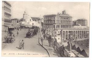 Boulevard et Palais Consulaire Alger Algiers 1900-1915