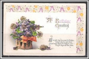 A Birthday Greeting - Flower Basket - Embossed - [MX-366]