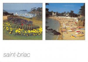 France Saint Briac Basket of Flowers Beach Boats Bateaux Playa
