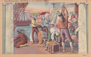 Boston Tea Party December 16 1773 Boston Massachusetts