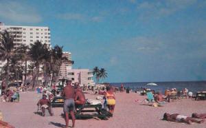 HALLANDALE , Florida , 1950-70s ; Hallandale Beach Boulevard, Atlantic Ocean