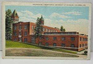 Engineering Laboratories University Columbia Missouri Vintage Postcard