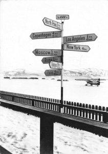 Vintage Greenland Postcard, SAS Danish Air Terminal, Southern Stromfjord HA3