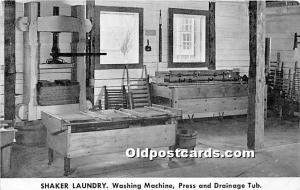 Shaker Laundry, Washing Machine, Press and Drainage Tub, Shaker Museum Old Ch...