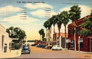 Florida Dunedin Main Street 1950 Curteich
