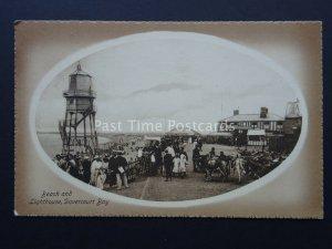 Essex DOVERCOURT BAY Beach & Lighthouse c1908 Postcard by Valentine
