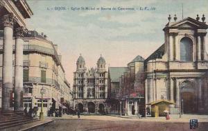 Eglise St-Michel Et Bourse Du Commerce, Dijon (Côte-d´Or), France, 1900-1910s