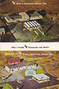 LK Motels & Restaurants , WILLARD & ASHLAND , Ohio , 40-60s #2