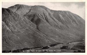 FORT WILLIAM SCOTLAND~THE PATH UP BEN NEVIS~J B WHITE PUBL PHOTO POSTCARD