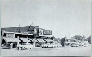 Homewood, Illinois Postcard SOUTHGATE SHOPPING CENTER Street Scene c1950s UNUSED