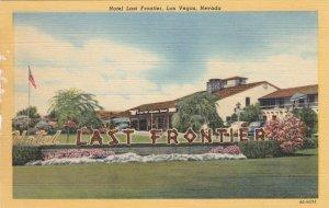Nevada Las Vegas Hotel Last Frontier Curteich sk3864