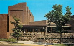 La Crosse Wisconsin~Fine Arts Building~University of Wisconsin~1960 Postcard