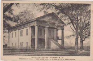 Old Court House Now Used As D.A.R. & U.D.C. Relic Room, Camden, South Carolin...