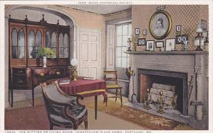 Sitting Room or Living Room, Longfellow's Old Home, PORTLAND, Maine, 00-10's