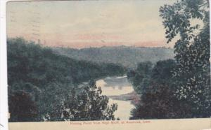 Iowa Anamona Fishing Point From High  Bluff 1912
