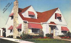 Cedar Rapids IA Tent & Awning Co Sample Home~Yarn-Dyed~Otis Woven~Linen 1940s PC