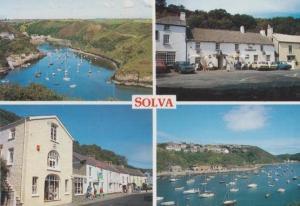 Solva The Cambrian Public House Pub Harbour Pembrokeshire Wales Postcard