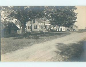 1920's rppc architecture HAMMOCK AND OLD CAR IN FRONT YARDS OF HOUSES HM0556