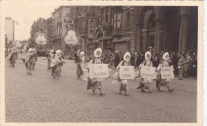 RP: People in costumes on parade , LIEGE , Belgium , 20-30s