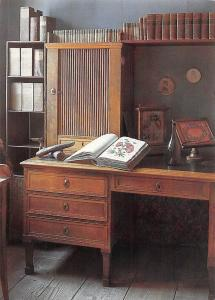 Weimar Goethehaus am Frauenplan Arbeitszimmer, Goethe's House Study Table