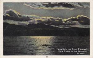 Arizona Moonlight On Lake Roosevelt Four Peaks In The Distance