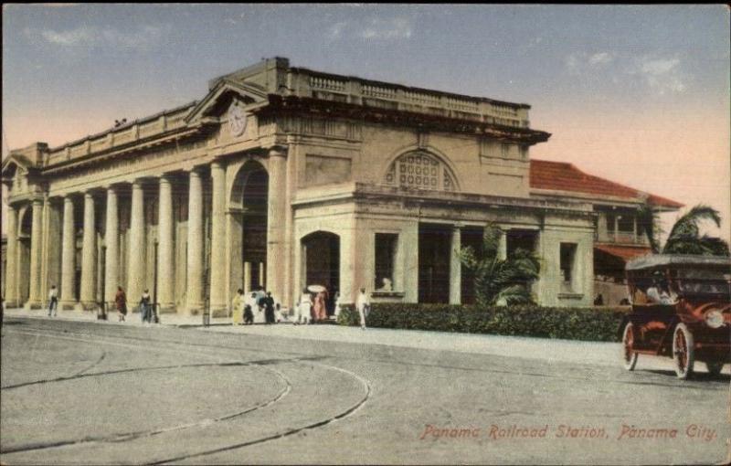 Panama City RR Train Station Depot c1915 Postcard