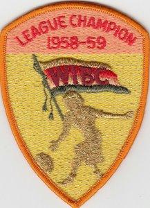 Women's International Bowling Congress Patch, 1958-59; League Campion