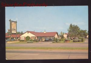 CLAREMORE OKLAHOMA WILL ROGERS MOTOR COURT ROUTE 66 ADVERTISING POSTCARD