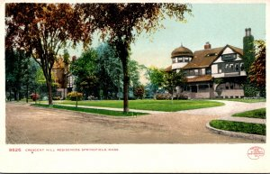 Massachusetts Springfield Crescent Hill Residences Detroit Publishing